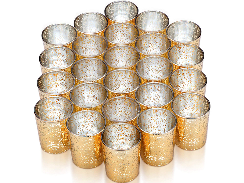 Gold Glass Votives